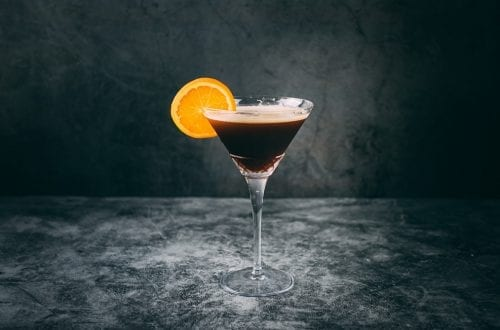 Triple Orange Espresso Martini Cocktail